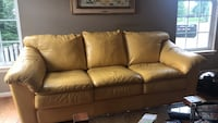 Yellow leather couch Boyds, 20841