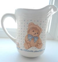 VINTAGE TEDDY BEAR PITCHER