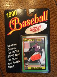 1990 baseball orioles team set Topps Cal Ripken.  Northport, 11768