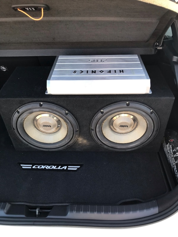 "Two Infinity Kappa 10"" subs with Hifonics Zeus amp"