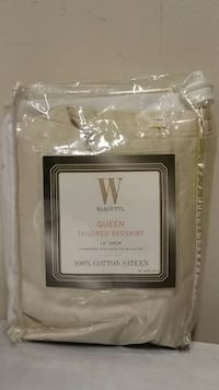 NEW!! 100% COTTON, TAILORED, LIGHT SAND-COLORED, QUEEN-SIZE BEDSKIRT Arlington, 22204