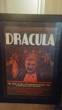 Framed Dracula movie poster