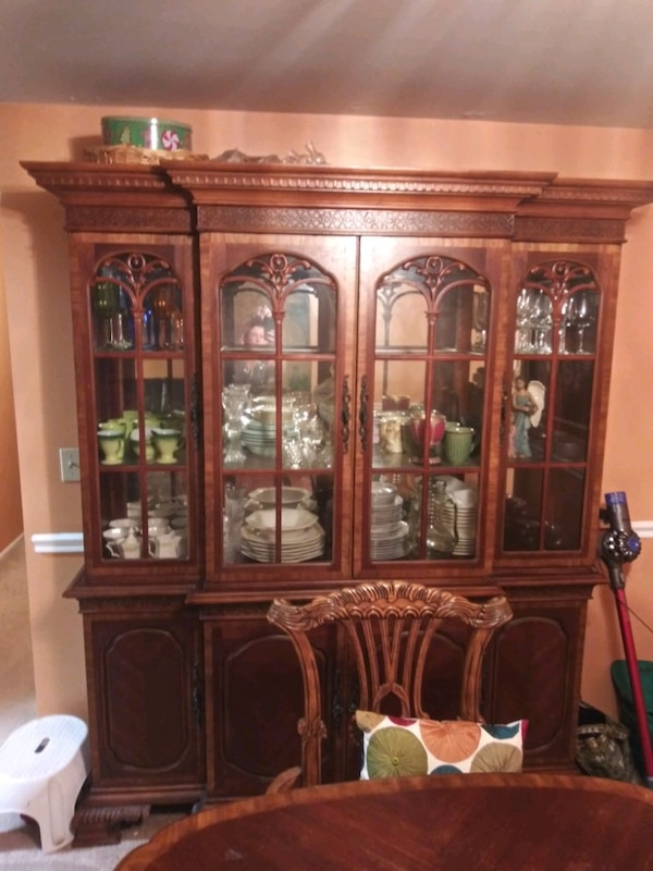 china cabinet with 6 ft table with 6 chair 2 Capta 3ff9144f-0943-4264-b913-66c46f6cac20