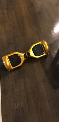yellow and black self-balancing board