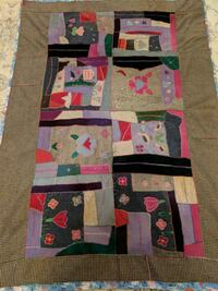 Vintage handmade cotton/wool crazy quilt Front Royal, 22630