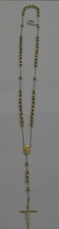 """14KT YELLOW GOLD ROSARY NECKLACE 30"""" PRE OWNED VERY GOOD CONDITION. 851466-1 Baltimore, 21205"""