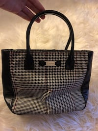 black and gray leather tote bag 2385 mi