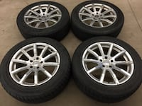 gray multi-spoke auto wheel with tire set Mississauga, L5A 3L7
