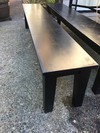 7 ft long wood benches 3715 km
