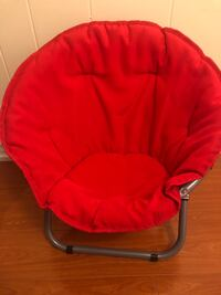 Children's Red Moon Saucer Folding Chair NEW!