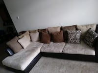 black and gray sectional couch Ashburn, 20147