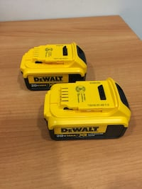 New Dewalt 20v 4Ah Batteries - $60 each Burnaby, V5C 0E4