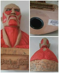 Attack on Titan bust coin bank Gaithersburg, 20878