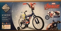 """Captain America 16"""" boys' bike NEW in the box Hagerstown, 21740"""