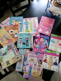 10+ new paper dolls & magnetic doll sets unopened