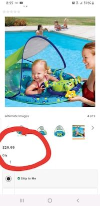 Swimways baby float Centreville, 20121