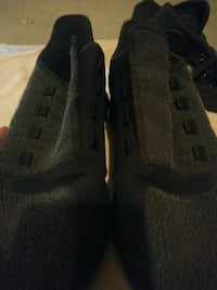 black and gray Adidas size 10