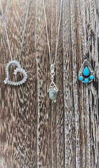 Sterling silver necklaces $60 each
