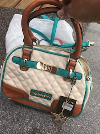 brown and teal leather handbag Surrey, V4A 1X1