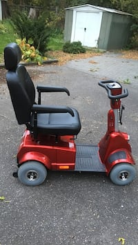 New red mobility scooter