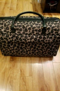 black and brown leopard print leather tote bag Mississauga, L5K 2G9