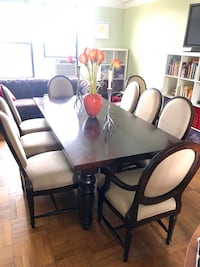 Dining Table (extension) and chairs (10) Restoration Hardware (RH) New York, 10025