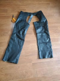 Mens Motorcycle Leather Chaps size L Woodbridge
