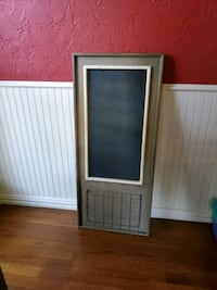 World Market Chalk board wall hanging w/basket Flower Mound