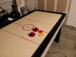 Full Sized Air Hockey Table Great for Game Room. On/off switch broken