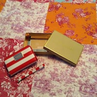 Red and white striped wallet