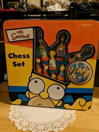 Rare Simpsons 3D chess set