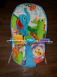 baby's blue and multicolored bouncer Bailey's Crossroads