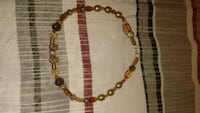 red and brown beaded necklace San Angelo, 76903