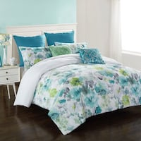 white and green floral bed comforter set South Gate, 90280
