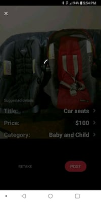 black and red car seat carrier screenshot Alexandria, 22309