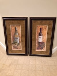 """Pair of Wine Pictures; 28"""" x 16"""" ea. Ashburn, 20147"""