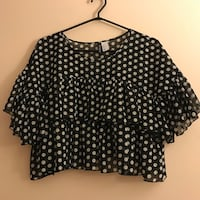 Cropped polka dot top Surrey, V3T 5V2