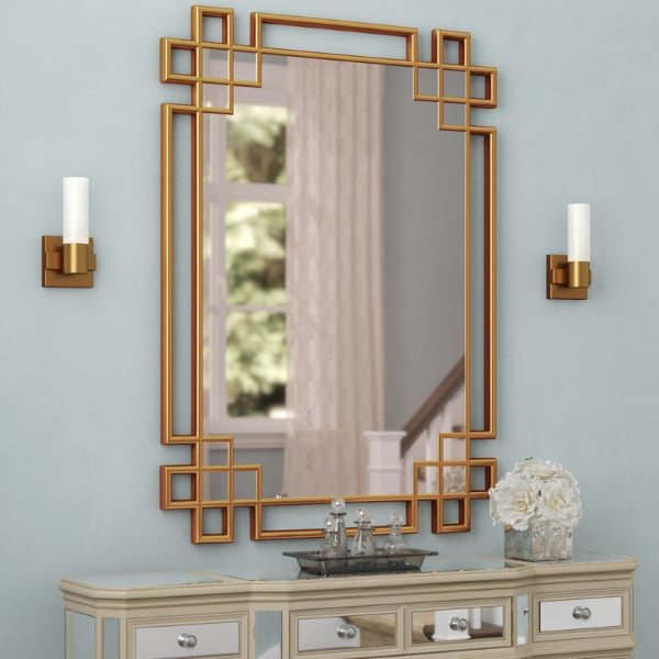 Sold Large Gold Art Deco Wall Mirror In Kings County Letgo