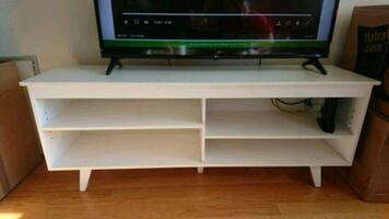 """TV Stand - 58"""", white in great condition"""