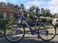 purple and white hardtail bike Oceanside, 92054