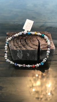Bracelet lucky eye, mexican sterling silver and perls new brand PRISILVER  Miami, 33133