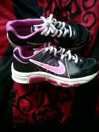pair of black-and-pink Nike running shoes Lenexa, 66216