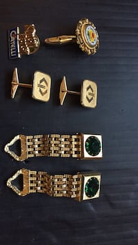Gold plated cuff link jewelry Kamloops, V2C