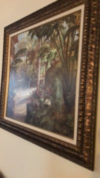 brown wooden framed painting of house Raleigh, 27606