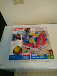 Fisher Price fire truck ball pit comes with 25 balls