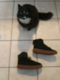 unpaired black and brown high top sneaker Vancouver, V5R 4L5