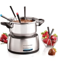 Fondue Pot, stainless steel, electric