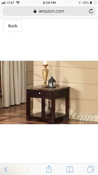 Brown side table  Beverly Hills, 90212