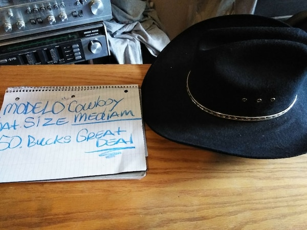Used Modelo cowboy hat made in Mexico 50 bucks size med for sale in Wichita  - letgo 539900397f4