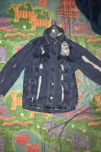 Ripped jean jacket(small)